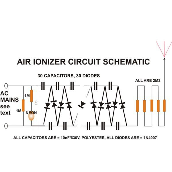 Build An Air Ionizer Amp Purifier Circuit At Home