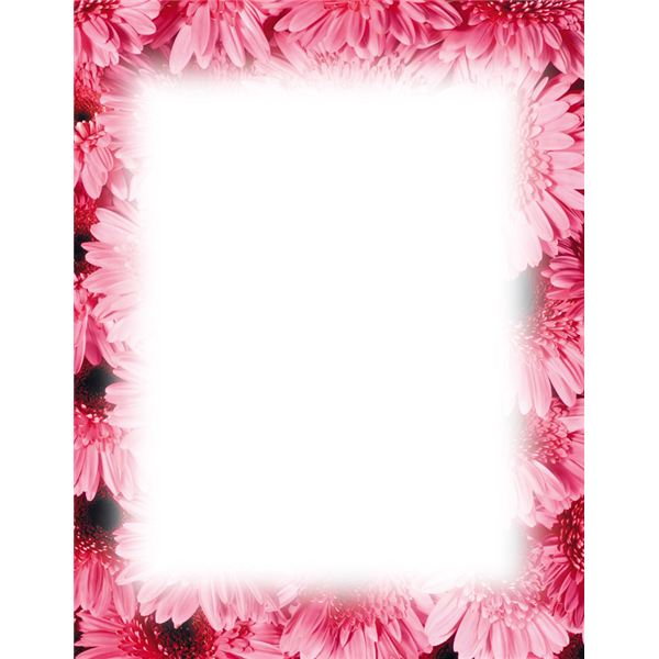 Flower Page Borders Microsoft Word