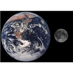 Earth-Moon size comparison- Courtesy of NASA