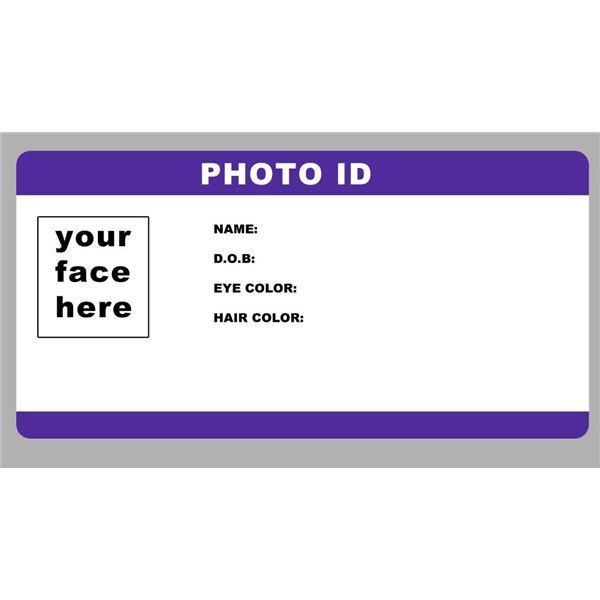 Blank student identity card the image for Id badge template free