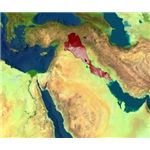 Location of Ancient Mesopotamia in the modern-day Middle East