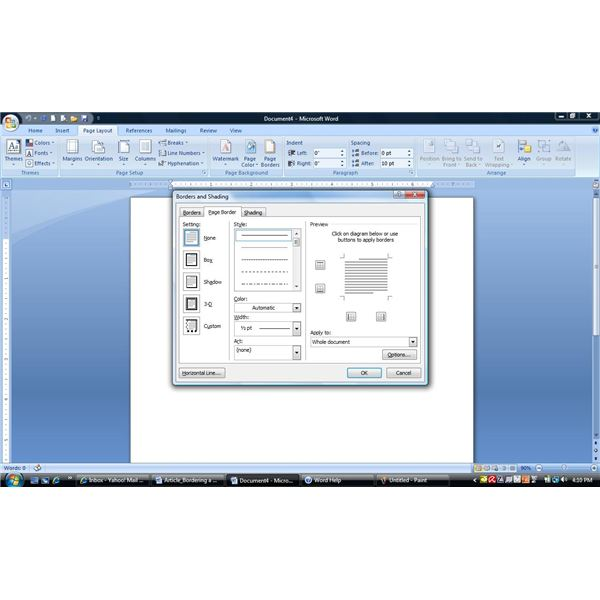 Using Borders And Lines In Microsoft Word 2007