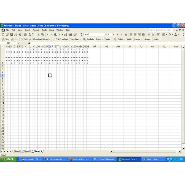 Example of a gantt chart using conditional formatting in excel gantt chart using conditional formatting in excel ccuart Image collections
