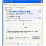 Content Advisor Window