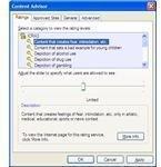 Content Advisor Window