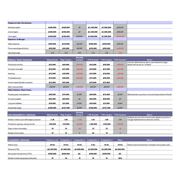 Budget Reports Templates  PetitComingoutpolyCo