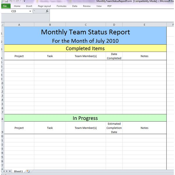 ... Monthly Team Status Review By Ronda Roberts