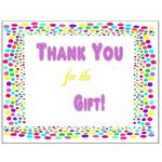 Thank You Postcards: Thanks for Gift