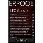 Liverpool FC Windows Phone app