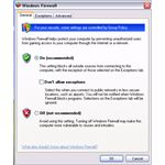 Windows Firewall UI in XP SP2