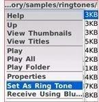 blackberry Set as ring tone