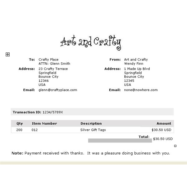 word document invoice template free