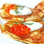 Potato Pancakes With Red Caviar