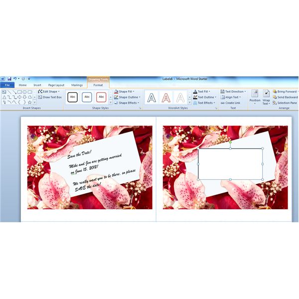 Designing components of your wedding stationery using word save the date you will type in a text box pronofoot35fo Images