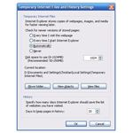 Internet Explorer History Settings