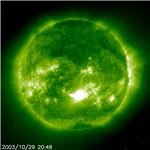 SOHO x-ray image of a solar flare