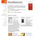 Figure 3 - ManyBooks Web Site