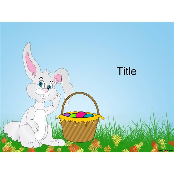 Top 9 easter bunny templates for desktop publishing programs easter bunny ppt template toneelgroepblik Image collections
