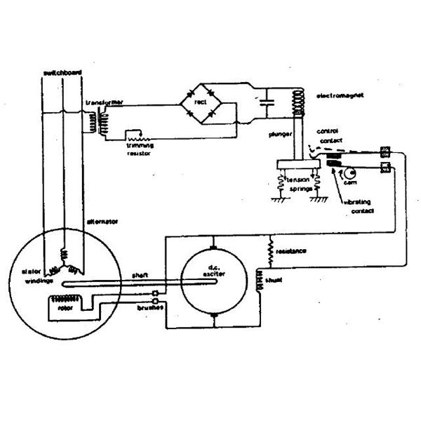 construction and working of a vibrating contact regulator