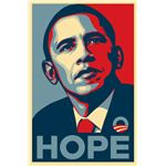 Barack Obama Hope poster by Shepard Fairey