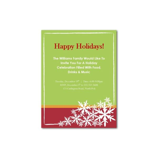 Happy Holiday Invitation  Christmas Dinner Invitation Template Free
