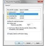 Recycle Bin Options in Windows 7