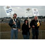 Walmart campaign Jobs with Justice Rally held in Graham Washington