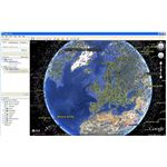 Instructions on how to locate a satellite in space using Google Earth