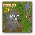 Location of Tent Near Eagles Peak