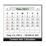 Calendar Calculator Clock by Widgipedia