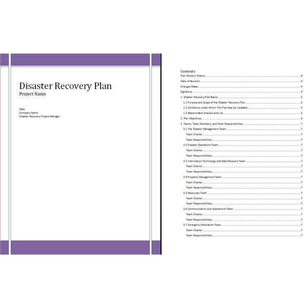 Free Disaster Recovery Plan Template For Project Managers And