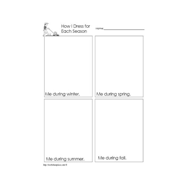 Printable Worksheets for Months and Seasons of the Year Download – Season Worksheets