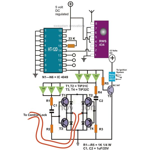 Remote Control Car Circuit Diagram Get Free Image About Wiring