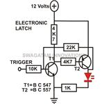 Transistor Circuits, Electronic Latch, Circuit Image