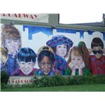 Wall Mural With Childrens Faces