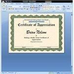 Nice Customized Award Certificate