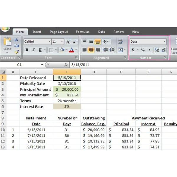 How to Make a Loan Amortization Table in Excel with Free Excel – Excel Amortization Schedule