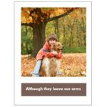 Boy and His Dog Pet Sympathy Card