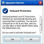 OnGuard Toaster popup