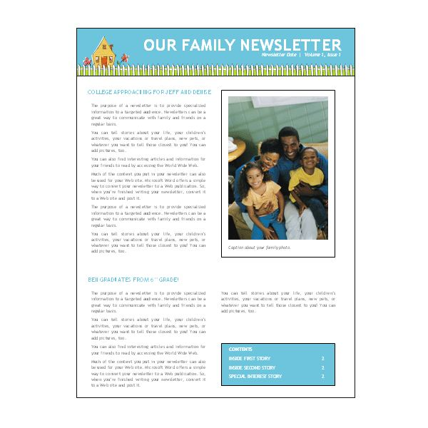 microsoft word template newsletter