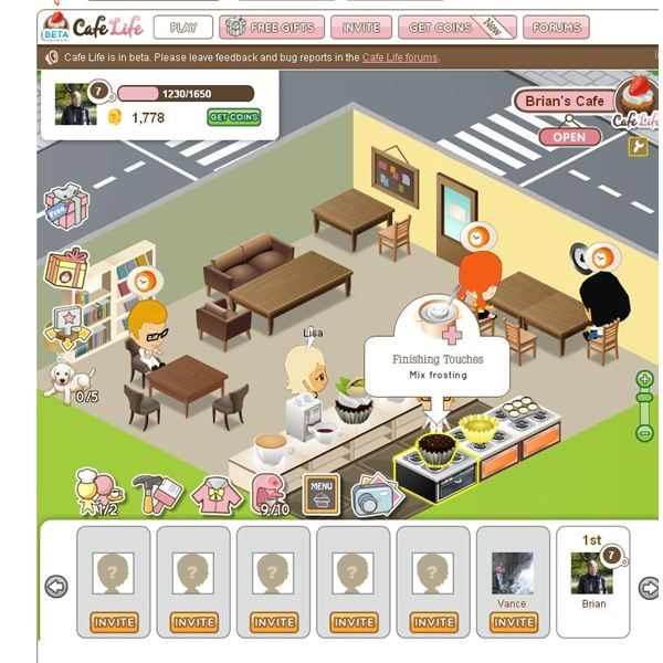 Cafe Life Game Guide On Facebook