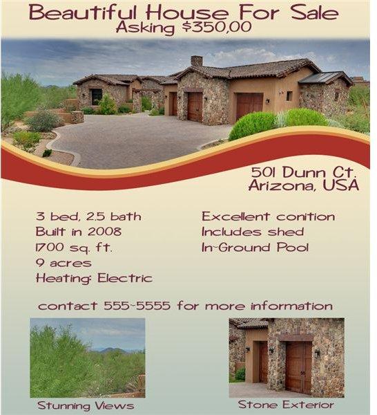 Color Flyer  House Sale Flyer