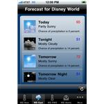 weather plus for Disney Park