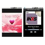 Screenshot Top 100 Love Songs App