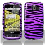 LG Optimus S Purple Zebra