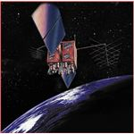 GPS Satellite In Orbit Artist's Rendering