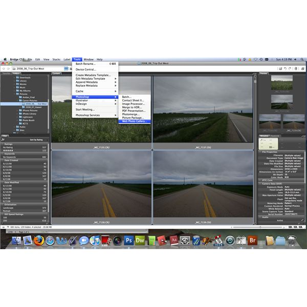 how to create a web photo gallery in photoshop cc