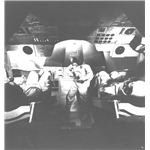 Interior of Command Module--note middle couch folded