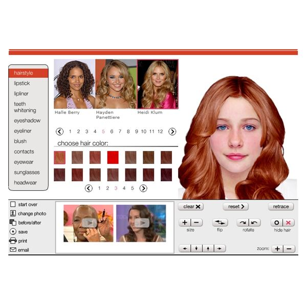 virtual hairstyle makeover : Free Virtual Hairstyles Makeover Online