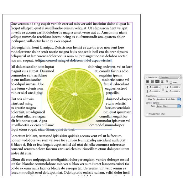 Dealing With Text Wrap In Indesign